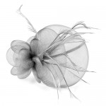 Grey Fascinator Emily - FAS096